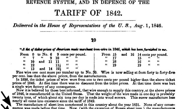 1846-8-1 Russia Iron mention – 1830-1872 Pamphlets on free trade