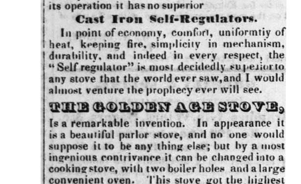 1851-5-1 Russia iron cylinder stoves – Rockland County Messenger (NY), Volume V, Number 51, 1 May 1851