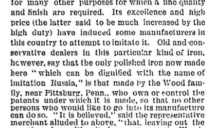 1882-12-29 Russia Iron Tariff Oppresive – NY Times Dec 29, 1882